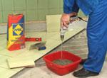 Приготовление смеси для укладки плитки
