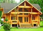 Строительство деревянного коттеджа