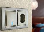 Розетка и выключатель в интерьере